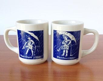 Set of Two Vintage Morton Salt Mugs