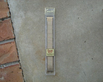1960s  new old stock speidel gold finish men's watch band retail for 10.95 back in the day