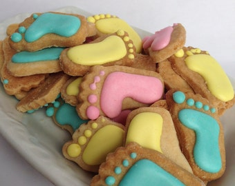 Mini Baby FEET SUGAR COOKIES, Itty Bitty Sugar Cookies, 1/2 Pound