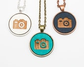 Camera Pendant - Photographer's Jewelry - Custom made / personalized jewelry - choose your color
