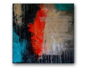 Original Painting - Abstract - Original Canvas Painting - 'Hyde' - 24in x 24in - Artist Nicole Dietz