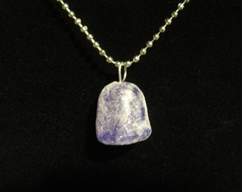 Purple Glitter Frosted Gum Drop Necklace