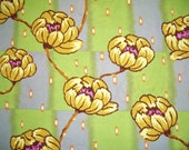 CLEARANCE - Amy Butler, Water Lily, Brown, Lotus Collection, Rowan Westminster, Designer Cotton Quilt Fabric, Floral Fabric, Quilt Fabric