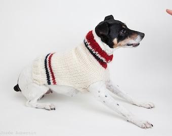 HABS classic road jersey colours dog sweater // Chandail de laine aux couleurs du Canadien de Montréal // 100% laine / wool