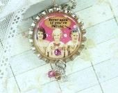 Friendship Necklace Best Friend Jewelry Best Friend Gift Bottle Cap Jewelry Best Friend Necklace