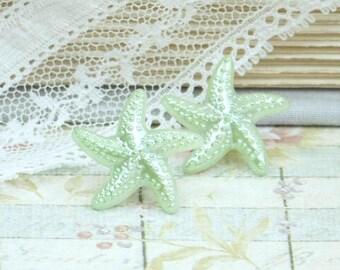 Green Starfish Earrings Beach Studs Nautical Earrings Starfish Jewelry Beach Earrings Starfish Studs