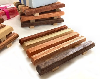 25 o- 48 Reclaimed wood soap dishes - made of a wide variety of reclaimed wood types - as low as 2.07 each
