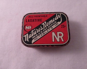 Sweet Vintage Medicinal Natures Remedy Laxative Tin