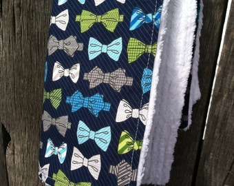 sweetbeesbaby burp cloth  - bowties navy