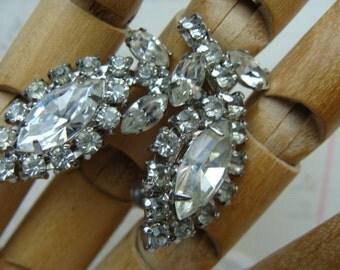 Vintage Antique High End Vintage Gorgeous Rhinestone Wedding Earrings