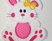 Easter Girl Bunny - Iron On or Sew On Custom Made Embroidered Applique