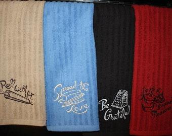 Embroidered Kitchen Towel- Kitchen Sentiments
