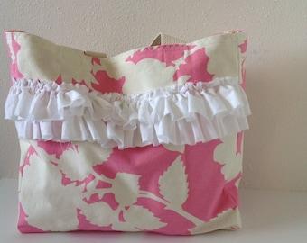 Canvas Tote/ Handbag/ Mother, Daughter/ Purse/ Market