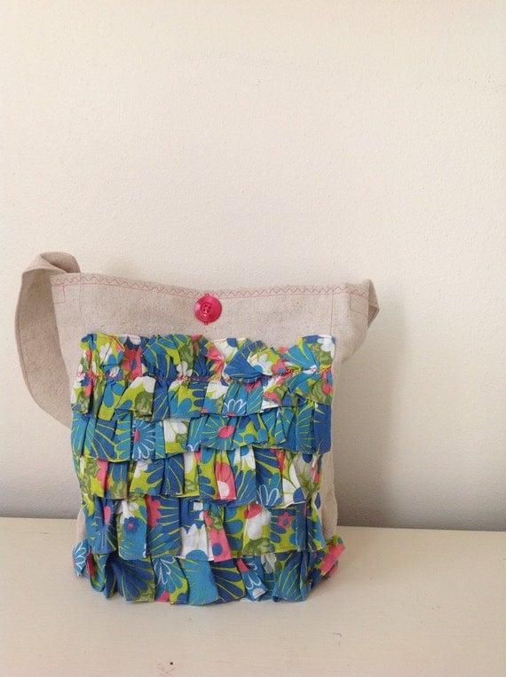 Canvas Tote Beach Bag Vintage Cotton
