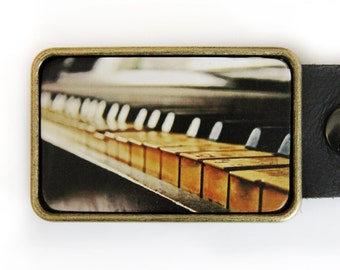 Piano Belt Buckle Music Musician Pianist