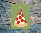 Pizza Tree - A2 folded note card & envelope - SKU 265