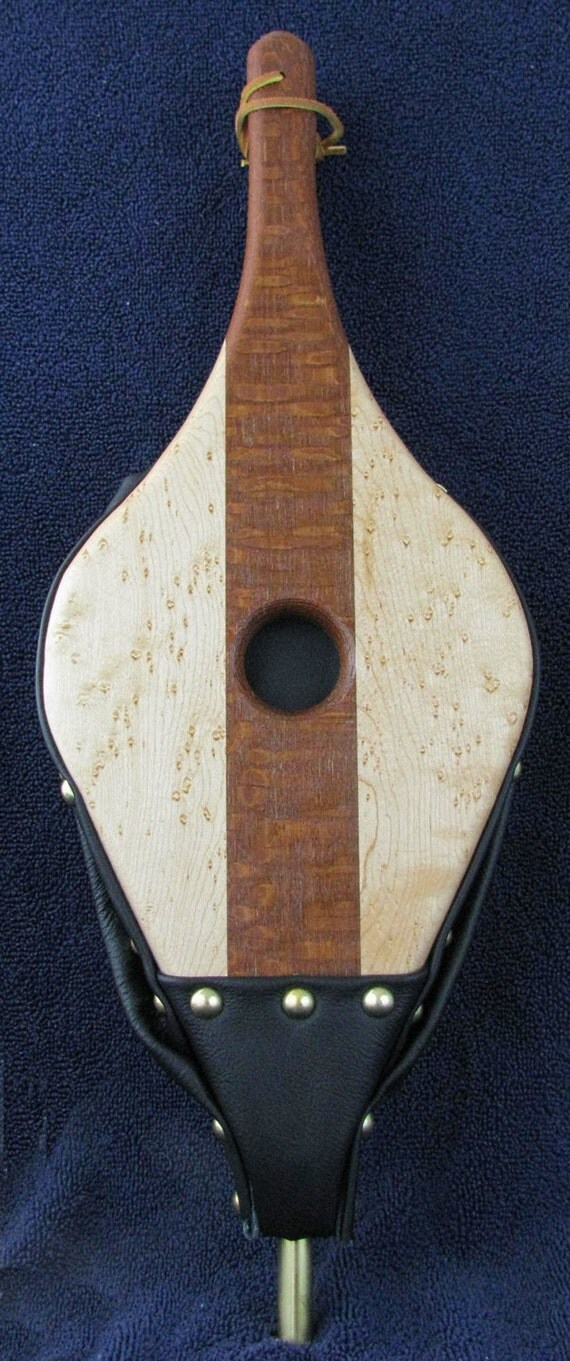 Fireplace Bellows--Lacewood and Birdseye Maple