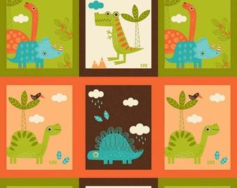 SPRING SALE - Dinosaur - Patch in Cream - Sku C4161 - 1 Yard - by The Rbd Team for Riley Blake Designs