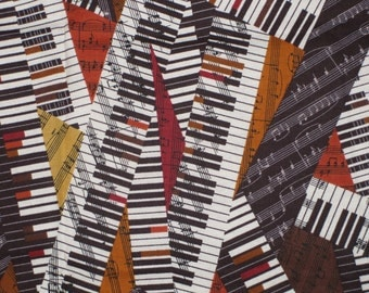 Robert Kaufman All That Jazz Piano Design Fabric Destash Remnant 22 Inches OOP