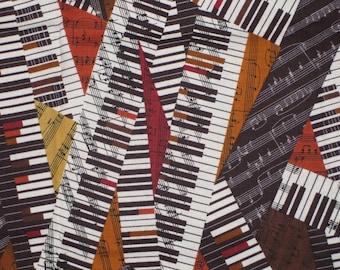 Robert Kaufman All That Jazz Piano Design Fabric Destash Remnant 22 Inches OOP