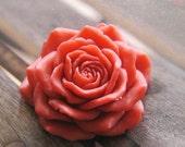 Big Red rose cabochon - 2 pcs - (CA831-A)