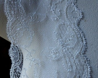 SALE Ivory Lace French Lace Chantilly Leavers by Solstiss for Bridal, Veils, Lingerie, Garments, Costume Design  CH