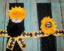 Wedding Garter,Batman Garter,Batman Super Hero Garter,Black Lace Garter,Rhinestone Garter,Comie Con,Geeky Wedding Garter,Geeky Groom