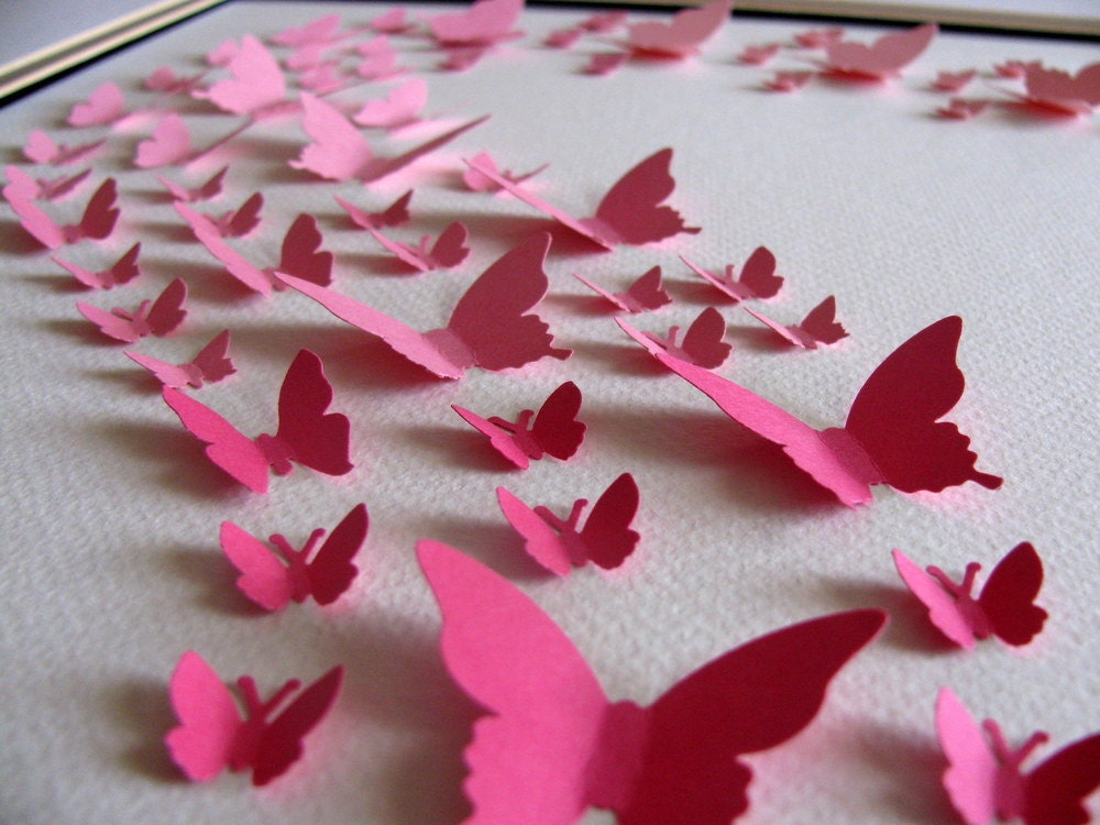 How To Make Cute Butterfly Wall Decor From Paper