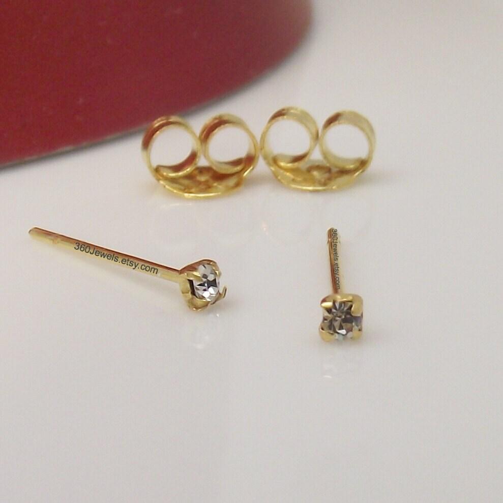 cartilage earring cz tiny stud earring