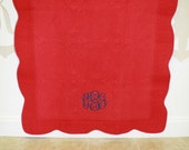 Beautiful Heirloom Monogrammed Embroidered Baby Blanket Quilt