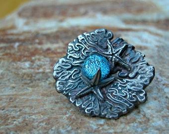 fine silver aquarium series starfish pendant