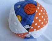 """Sports LARGE 7"""" Jingle Ball Cloth Baby Toy"""
