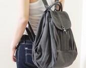 New Year SALE - 20% OFF Essential in Dark Gray / Backpack / Satchel / Rucksack / Diaper Bag / Tote / Women / Shoulder Bag / For Her