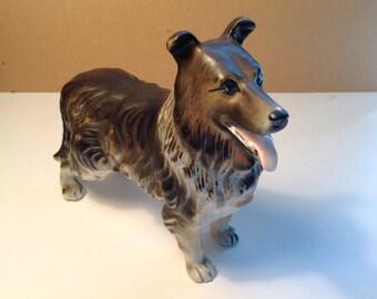 Large Collie dog figurine