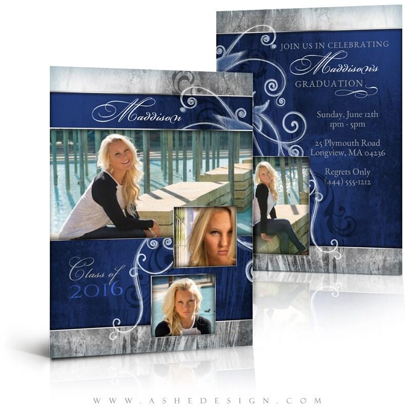 free senior templates for photoshop - photoshop templates graduation invitation press printed