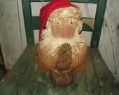 Primitive Santa with Botanical Tree, Primitive, Rustic, Christmas, Winter, Santa, St. Nick, Botanical Tree, Ofg, Faap, Hafair