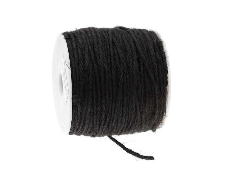 Colored jute twine Black 5m / 16.4 ft C25