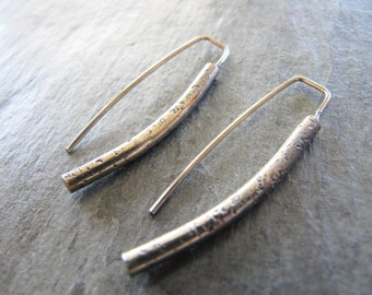 Rustic Hammered Sterling Silver Earrings