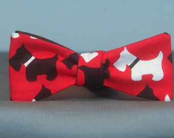 Scottish Terrier on Red  Bow tie