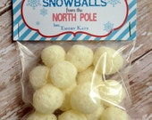 PRINTABLE DIY Personalized Snowballs from the North Pole Christmas Treat Bag Toppers
