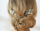 Wedding Haircomb, Bridal Hairpins, Wedding Hair swag