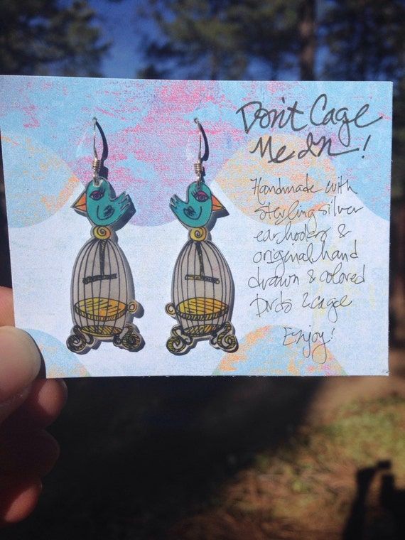 Don't Cage Me In! earrings