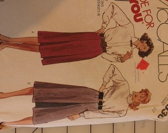 Easy Skirt with Inverted Pleat options 12 McCalls 3330