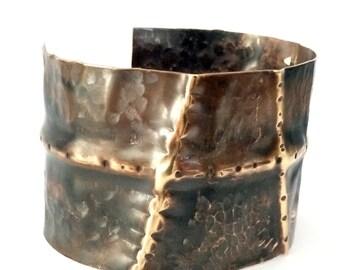 Brass Cuff, Fold Formed Brass Bracelet