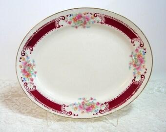 Homer Laughlin Vintage Floral Platter