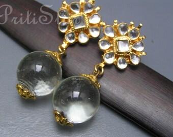 Chandelier Earrings. Pools of Light .Mughal Jewelry