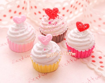 Candy Heart Cupcakes Miniatures - 4pc
