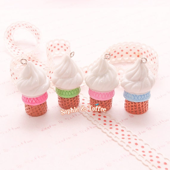 sundae ice cream resin charm decoden supplies by