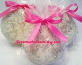 Pink and Silver Chocolate Covered Oreos Cookies Baby Shower Favors Wedding Favors Baptism Christening Bridal Shower Silver Party Favors