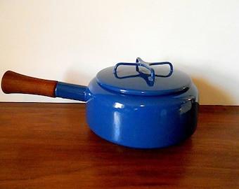 Midcentury Quistgaard DANSK France Kobenstyle Cobalt Blue Fondue Pot, Saucepan